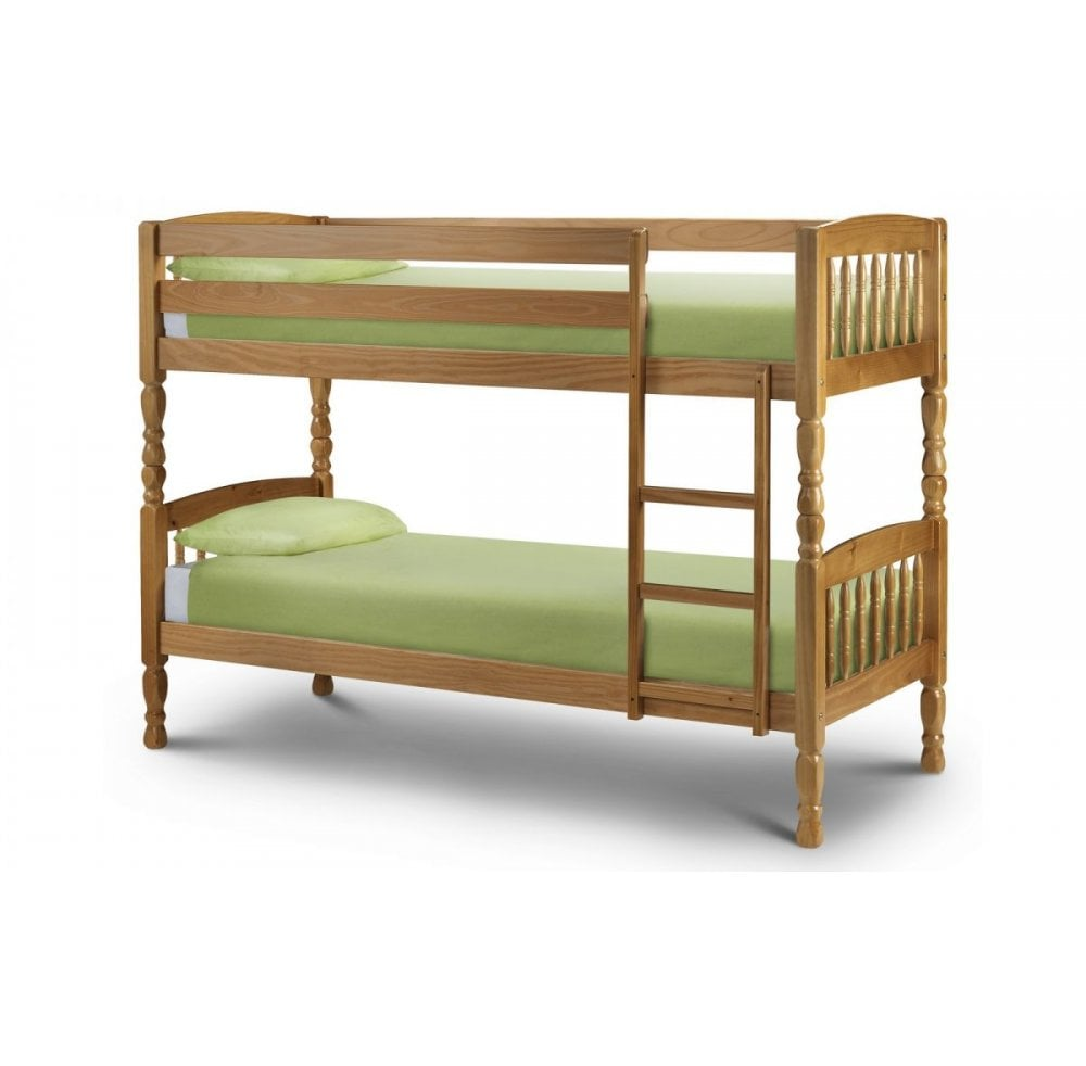 Lincoln Solid Pine Bunk Bed 90x190cm Mattress Size Bed Mattress Sale From Readers Interiors Uk