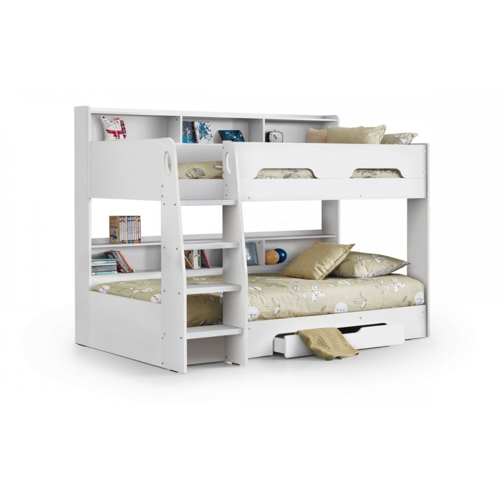 Orion Bunk Bed White Finish Bed Mattress Sale From Readers Interiors Uk