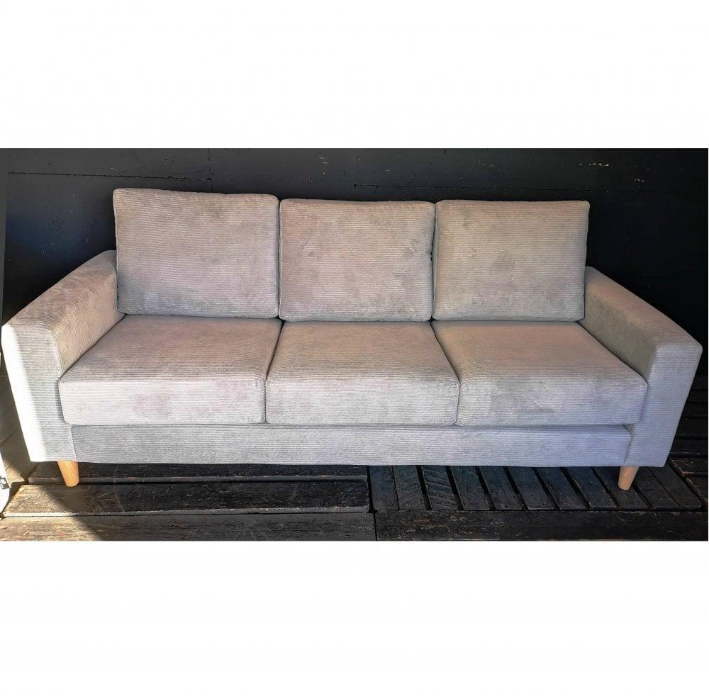 Tremendous Special Offer Dalton 3 Seater In Ashton Grey Fabric Machost Co Dining Chair Design Ideas Machostcouk