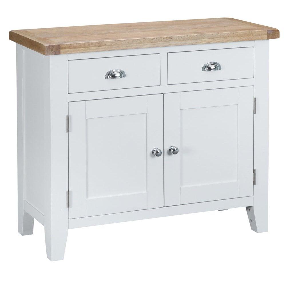 Tennyson White 2 Door 2 Drawer Sideboard White