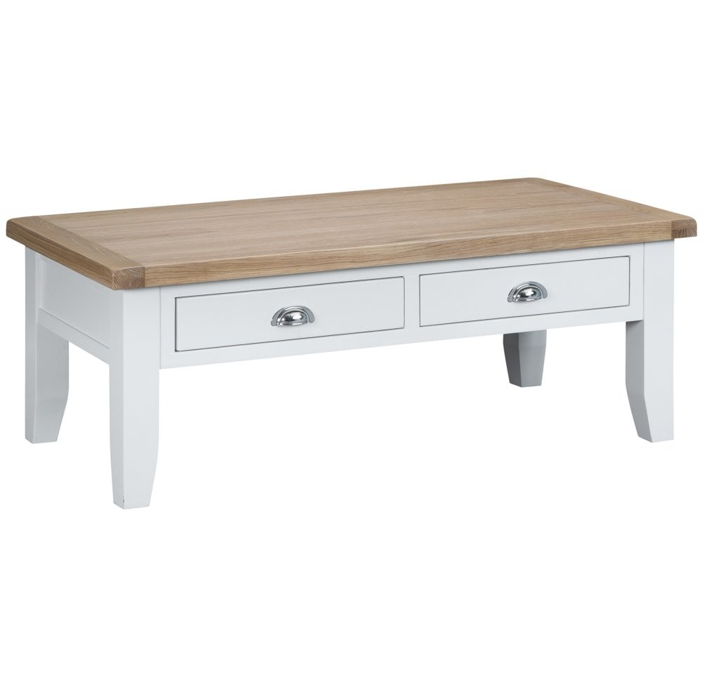 Tennyson White Large Coffee Table