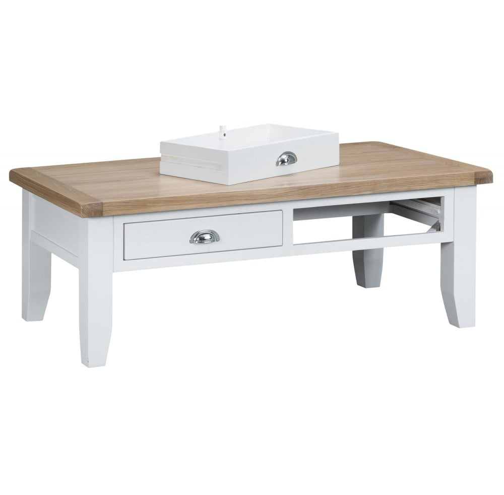 Tennyson White Large Coffee Table White Furniture Sale From Readers Interiors Uk