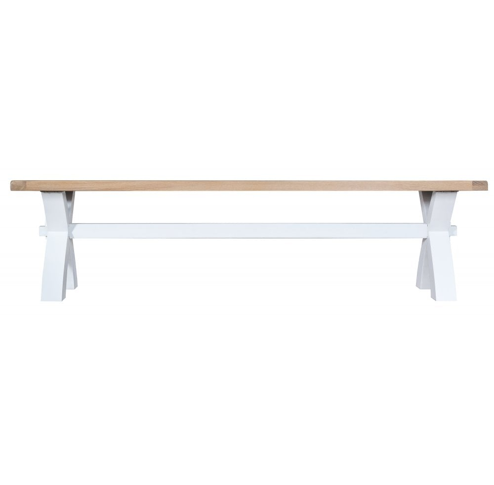Incredible Tennyson White Small Cross Bench White Uwap Interior Chair Design Uwaporg