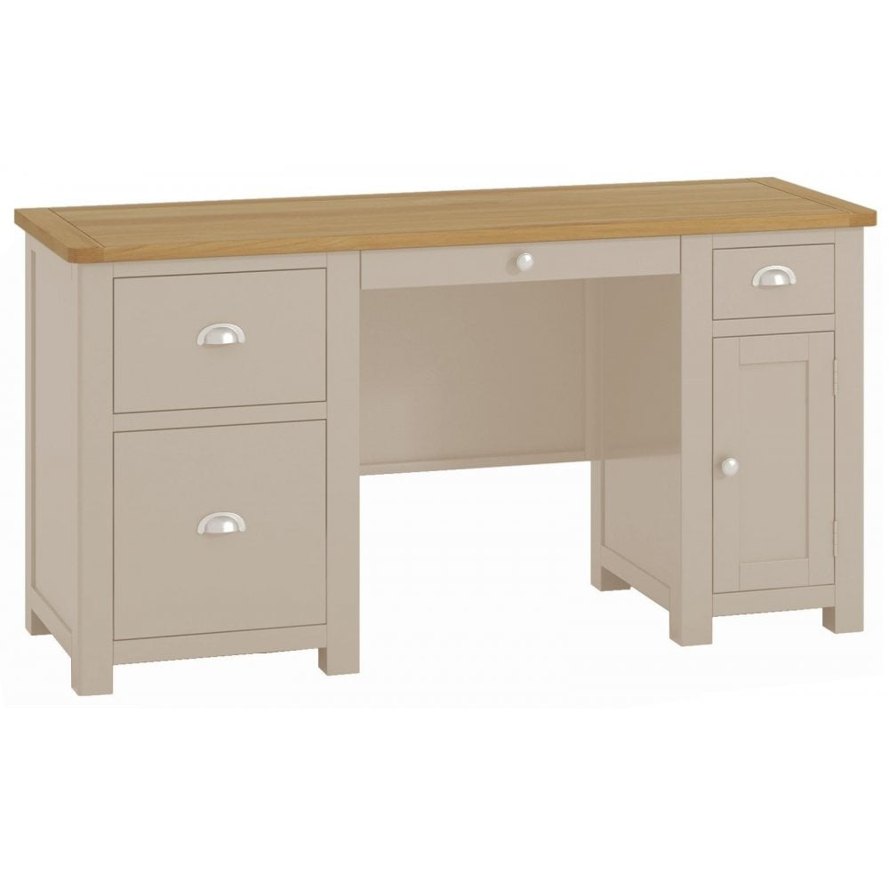Thorncross Stone Painted Office Double Pedestal Desk